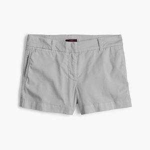 "NWT J. Crew Women's 3"" Stretch Chino Shorts - Gray"